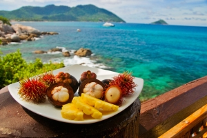 Plateful of Exotic Fruits