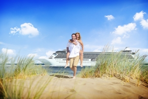 Couple Beach Cruise Vacation