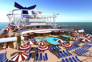Carnival Horizon Pool Deck