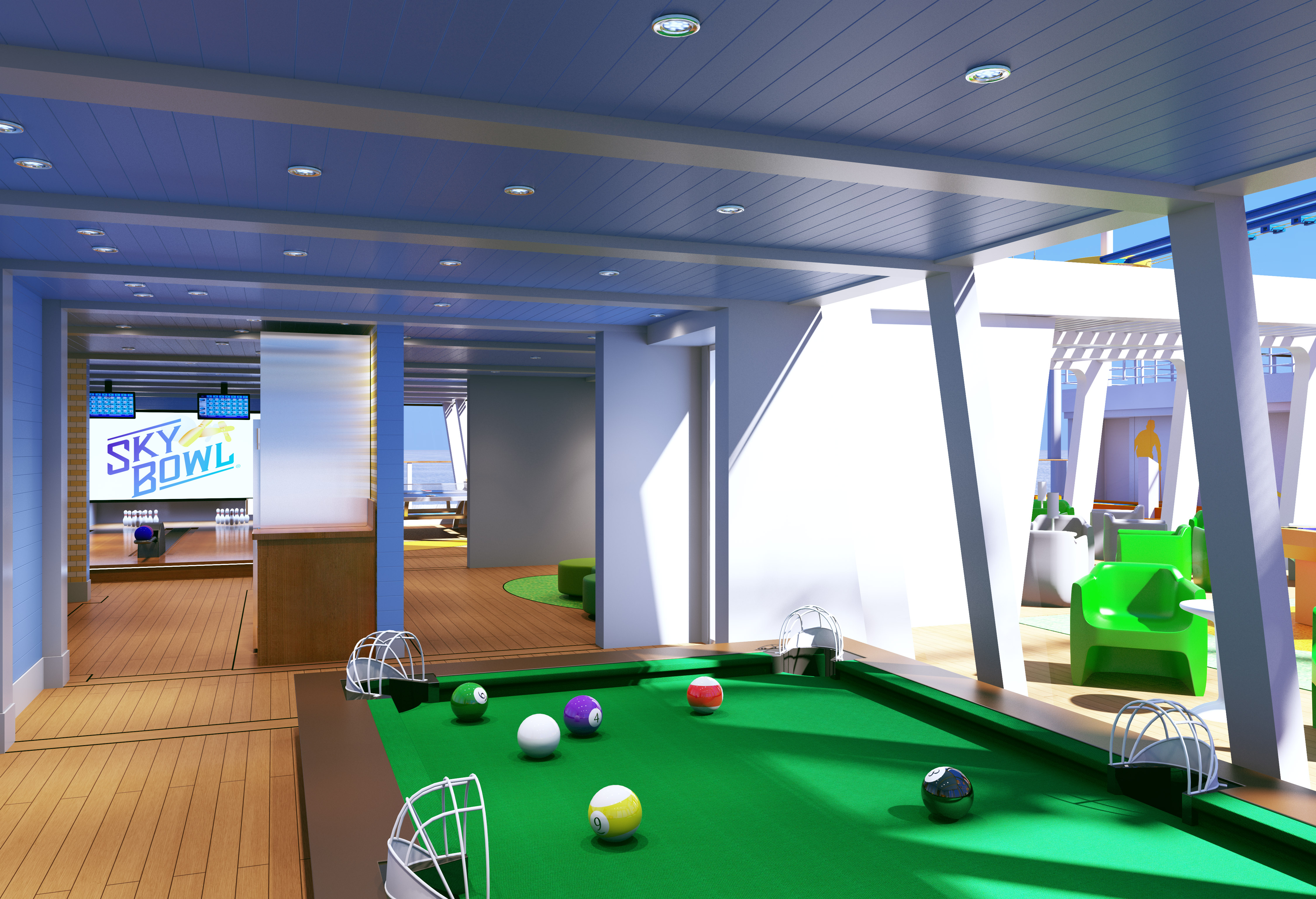 Carnival Horizon Previewing Carnival Cruise Lines Newest Ship - Cruise ship pool table