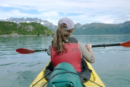 Kayaking trip with kids in Aialik Bay, Alaska