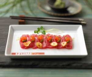 Izumi, Restaurant, Food and Beverage, Dining, Japanese Food and Beverage, sushi, Tuna Wasabi Carpaccio