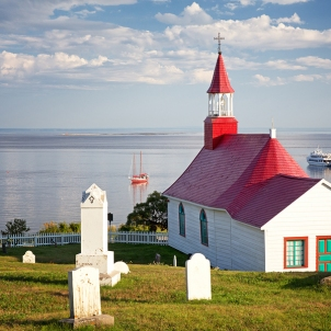 Chapel of Tadoussac,Quebec built of wood in 1747.
