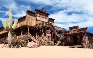 Wild West desert cowboy town