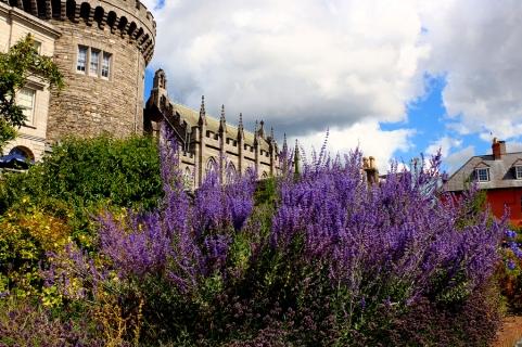 Dublin Castle on a summer day,fragment, Ireland