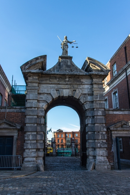 Gate Of Justice At Dublin Castle, Ireland