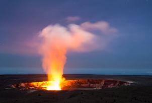 Kilauea volcano caldera and crater on Hawaii