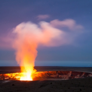 Kilauea volcano caldera and crater on Hawaii