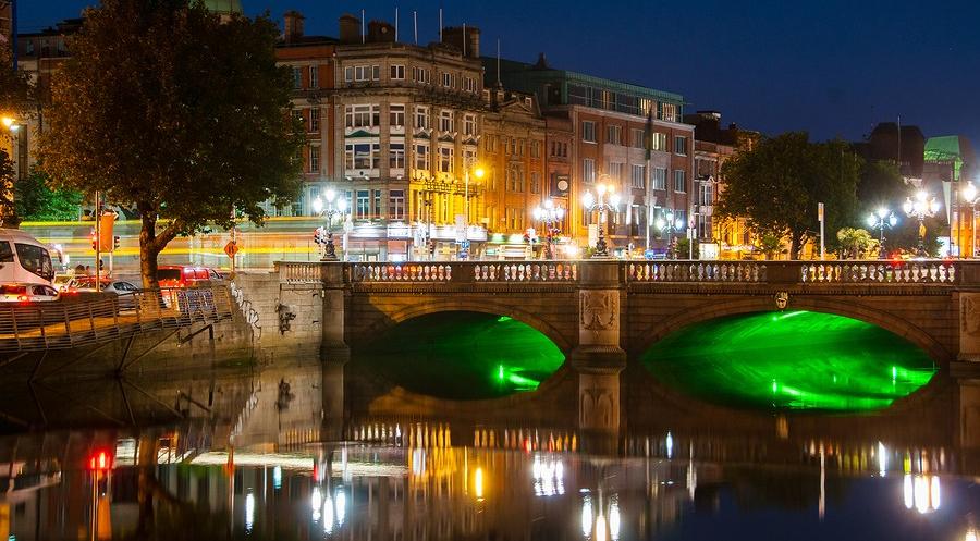 利菲河清都柏林,爱尔兰
