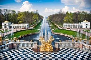Fountain in Peterhof St Petersburg